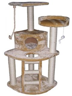 "48"" Cat Tree House Toy Bed Scratcher Post Furniture F08"