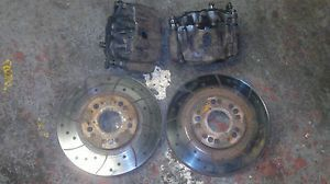 TOYOTA SUPRA MK4 MKIV JZA80 TT 2 POT FRONT BRAKE CALIPERS CARRIERS DISCS PADS