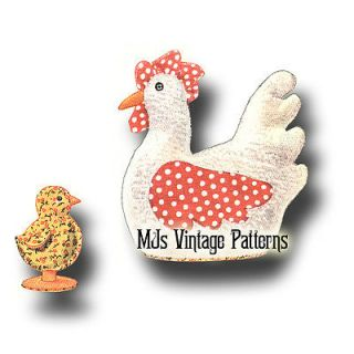 Vintage 1930s Bunny Chicken Chick Duck Stuffed Animal Toy Pattern