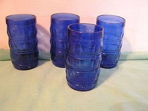 Cobalt Blue Juice Glasses