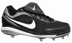 Nike Air Zoom Coop V Mens Baseball Cleats w Metal Studs Black White Silver New