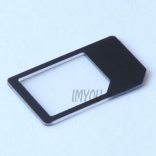 2X Micro Sim to Mini Sim Card Adapter Sim Adapter MicroSim for iPhone 4 iPad