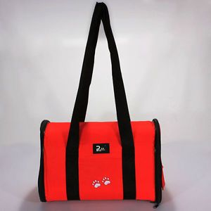 Travel Carrier Pet Dog Cat Puppy Portable Tote Bag Crates Kennel Red New Medium