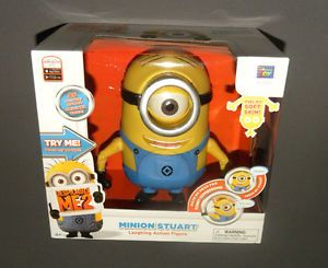 Despicable Me 2 ME2 Minion Stuart Talking Laughing Action Figure Doll New