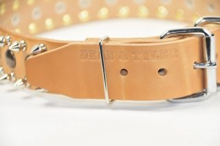 Spiked Studs Leather Dog Collar D T Large Top Quality