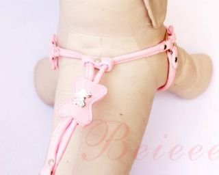 New PU Leather Dog Soft Leashes Harness Wite Lead Rhinestone for Small Dog Puppy