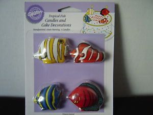 Tropical Fish Candles and Cake Decorations Wilton New