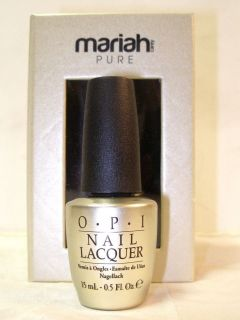 OPI Mariah Carey Pure 18K White Gold Top Coat 0 5oz Brand New