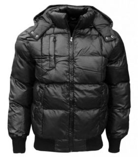 New SK 5 Men's Puffa Puffer Padded Bomber Quilted Hooded Coat Jacket s XXL