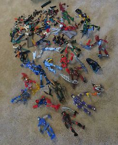 Bionicle Lot Several Figures Parts and Accessories