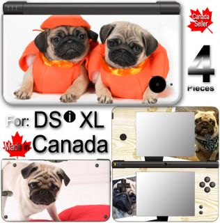 Dog Pug Cute Pet Puppy DSi XL Vinyl Skin Sticker Cover
