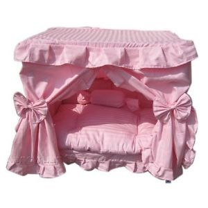 Pink Princess Pet Dog Cat Handmade Bed House s M