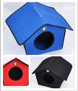 Hot Soft Warm Pet Pad Bed Comfortabl Portable Kennel Doggy House Cat Dog House L