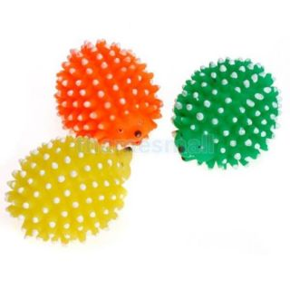 Pet Dog Puppy Squeaky Chew Toy Squeaker Ball Sound Hedgehog Style Cute 03327