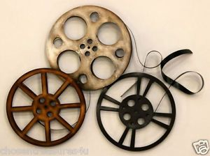 Home Theater Wall Art Movie Reels Theatre Decor Retro Room Decor 28 5x26in