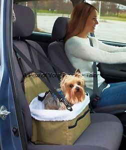 Portable Pet Dog Puppy Cat Booster Car Seat Road Trip Travel Carrier