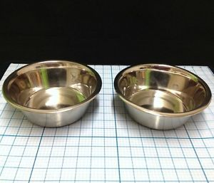 Set of  Brand Non Skid Metal Pet Dog Food Water Bowl Bowls Holds 6 25 Cups