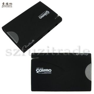 Hub Combo USB All in 1 Memory Card Reader Writer for TF MMC MS Pro Micro Mini SD