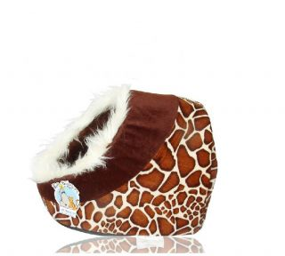 Cute Leopard Pet Kitten Cave Hooded Warm Dog Pet Bed House for Small Dog Cat Bed