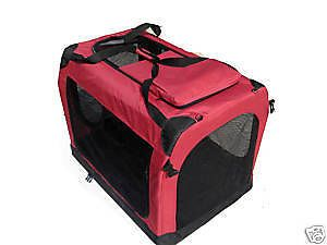 "36"" Portable Maroon Pet Dog House Soft Crate Foldable"