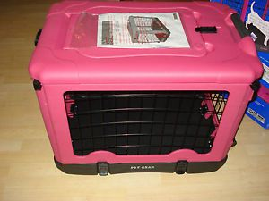 "Pet Gear Hot Pink Foldable Portable Dog or Cat Crate 27"" x 18"" x 21"" New"