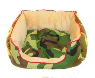 Camo Pet Bed Dog Cat House Bedding Supply Camoflauge