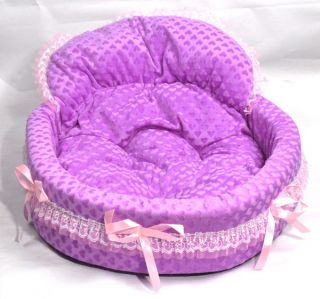 New Purple Princess Cute Pretty Warm Kennel Cozy Soft Lace Pet Dog Puppy Cat Bed