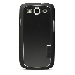 Cygnett Urbanshield Brushed Aluminum Black Case for Samsung Galaxy S3 SIII New