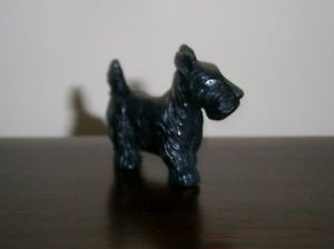 Vintage Hard Rubber Black Scottie Scottish Terrier Dog Rubber Figure Toy Mint