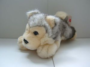 Husky Dog Puppy Beanie Soft Toy Animal Keel Toys