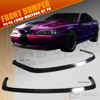 Ford Mustang 94 98 Front Bumper Lip Spoiler Bodykit Chin Poly Urethane PU
