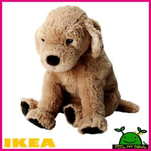 "IKEA Gosig Golden Retriever Soft Plush Puppy Dog Toy 16"" New"