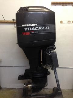 1998 Mercury 115 HP 2 Stroke Outboard Motor Boat Engine 90 Water Ready Rebuilt