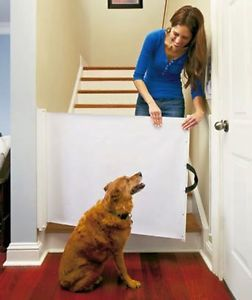 Retractable Pet Gate Gates Wide Door Tall Barrier Dog Supplies Products Indoor