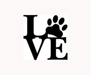 Love Paw Sticker Family Car Window Vinyl Decal Cute Animal Pet Dog Cat Wall Art