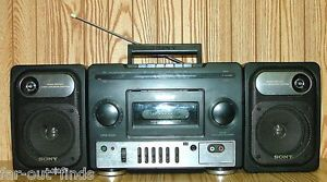 Vintage Sony CFS 1030 Boombox Portable Am FM Radio Cassette Tape Player Recorder