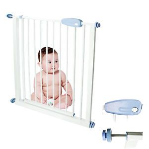 New Easy Open Extra Wide Metal Gate Baby Child Pet Dog Door Safety Barrier Fence