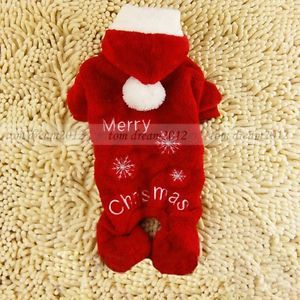 Free SHIP Christmas Lint Dog Sweater Coats Four Feet Dog Clothes Wear Clothing