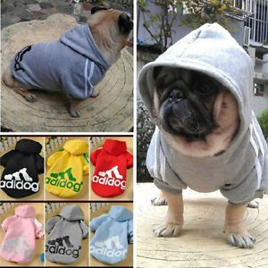 For Dog Cat Puppy Pet Clothing Adidog Warm Coat Apparel Hoodies Sweater T Shirt