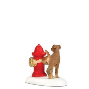 Snow Village Dept 56 Christmas Dog Figurine 800010 Paws and REFRESH