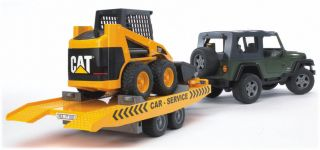 Bruder Jeep Wrangler Unlimited Cat Skid Steer Loader