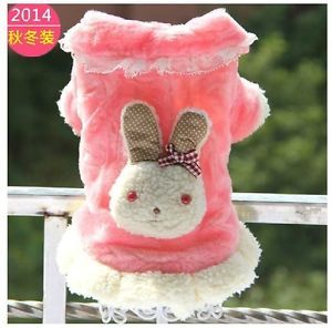 Autumn Winter Cute Rabbit Fleece Dog Clothing Coat Dog Jacket Sweater Clothes