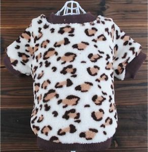New Leopard Print Dog Costumes Puppy Warm Soft Dog Clothes Pet Sweater Apparel
