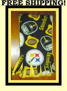 Fan Apparel Souvenirs Pittsburgh Steelers NFL Football Scarf Scarves Accessories