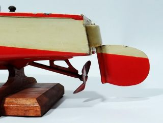 Antique Russian Tin Wind Up Toy Racer Boat with Figure RARE Soviet Toy 1950'S