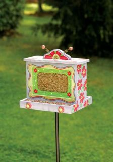 Pink Daisy Bird Feeder The Encore Group Wooden Feeders Bird Feeders New