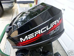 Mercury 6 0 HP 2 Stroke Outboard Boat Engine Motor Long Shaft Low Hours No Salt