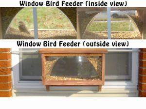 Red Cedar Large Window Bird Feeder Handmade in The USA