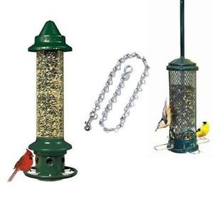 Brome Squirrel Buster Plus Mini Finch Squirrel Proof Bird Feeders Chain