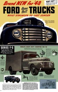Ford Trucks 1948 Heavy Duty Series F5 and f6 Brand New for 48 Ford Bonus Bui